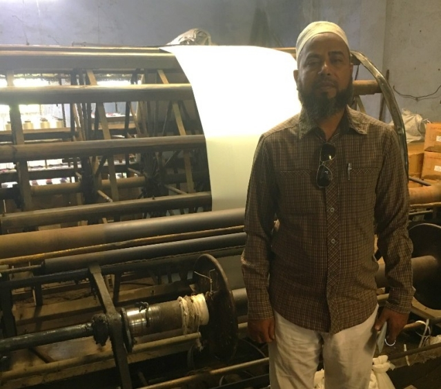 Unable to bear costs, Moazzam Ansari has had to sell off 50 percent of his looms.