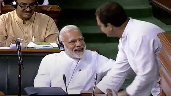 Congress chief Rahul Gandhi hugged Prime Minister Narendra Modi in Lok Sabha on 20 July.
