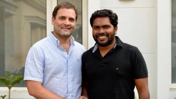 Rahul Gandhi with PA Ranjith.