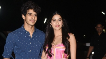 Ishaan Khatter and Janhvi Kapoor at the <i>Dhadak</i> screening.