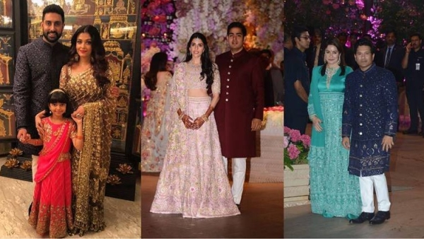 The Ambanis hosted an array of guests, on the occasion of Akash Ambani and Shloka Mehta's engagement