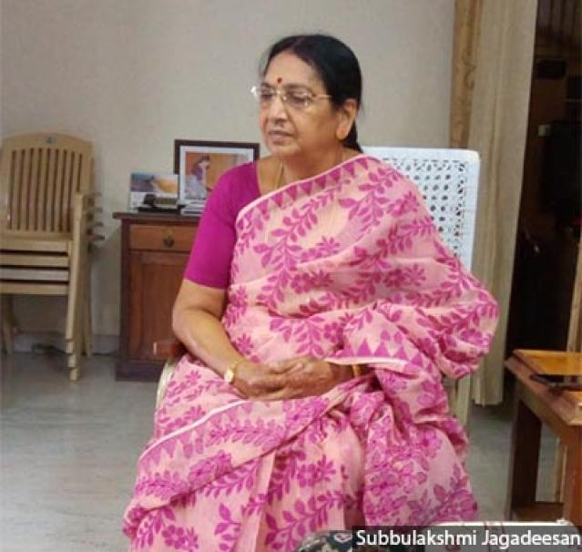Subbulakshmi Jagadeesan, the current deputy general secretary of the DMK.