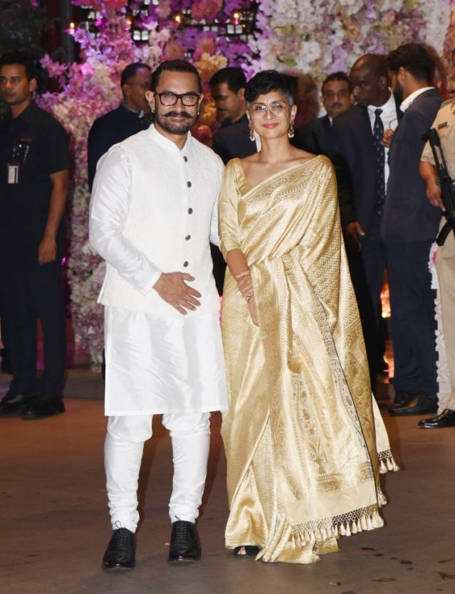Aamir Khan and Kiran Rao at the engagement party.