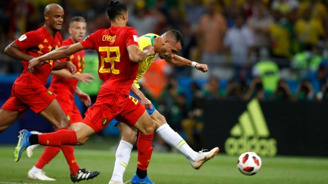 Belgium played with a narrow defense, forcing Brazil to go wide.