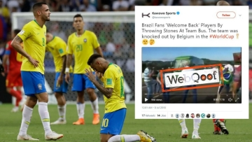 A fake video claimed that angry Brazilian fans hurled eggs and stones at a bus in Brazil, reacting to the national team's exit from the FIFA World Cup in Russia.