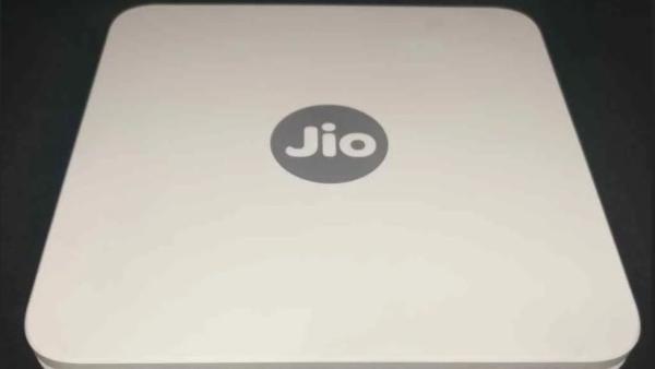 JioGigaFiber modem.