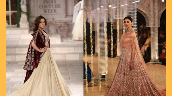 Kangana Ranaut and Aditi Rao Hydari were the showstoppers on Day 1 of the India Couture Week 2018.