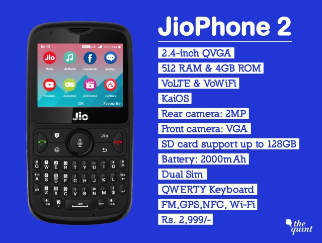 JioPhone 2 specifications
