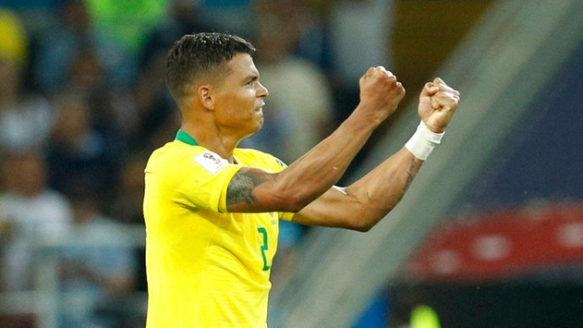 Centre-back and captain Thiago Silva is the beating heart of the Brazilian defence