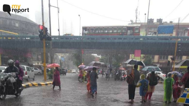No relief from the rains from Dadar Hindmata residents.