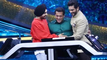 Diljit Dosanjh and Angad Bedi appear on Salman Khan's <i>Dus ka Dum.</i>