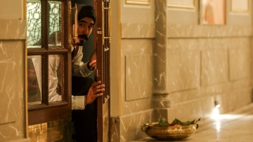 Dev Patel in a still from 'Hotel Mumbai'.