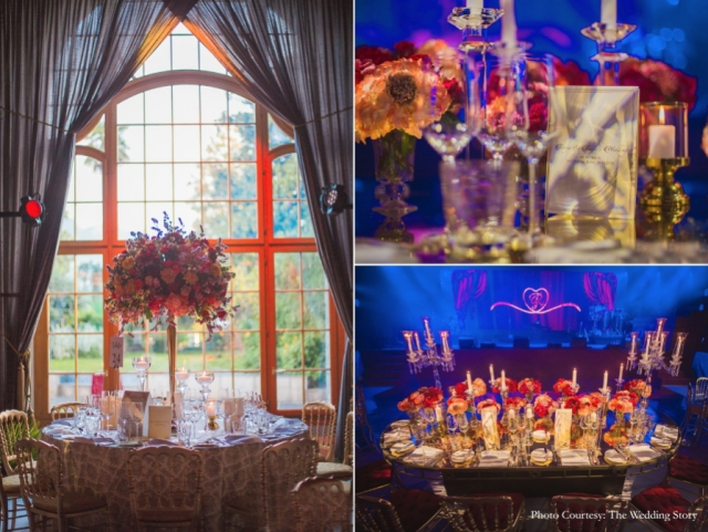 Gorgeous detailed table set-ups during the reception.