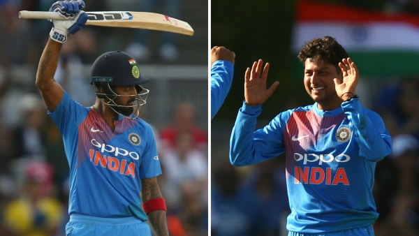 KL Rahul scored his second T20 century and Kuldeep Yadav picked up his first T20 fifer as India beat England by 8 wickets at Old Trafford.