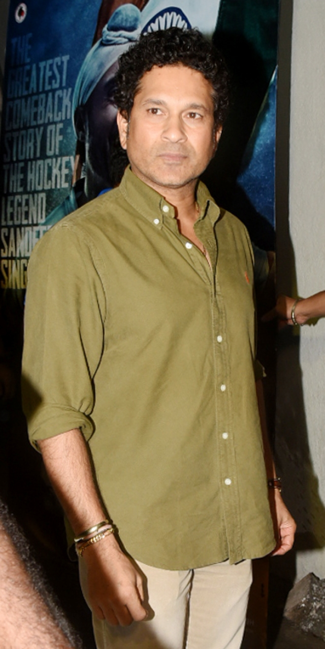 Sachin Tendulkar at the <i>Soorma </i>screening.