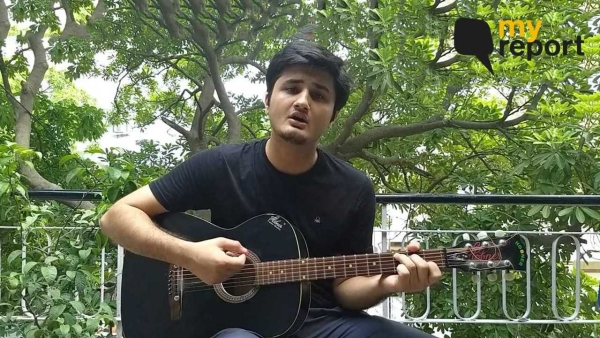Watch Poojan Sahil sings to save trees