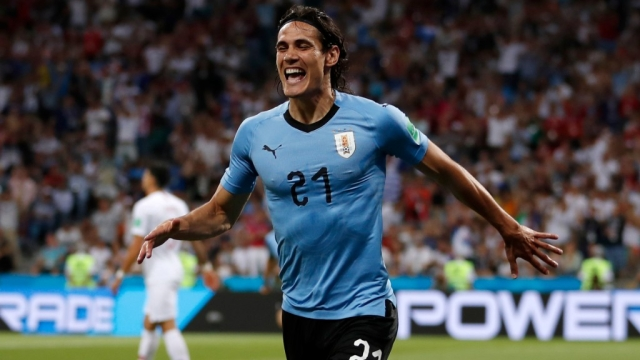 Cavani scored in back-to-back matches for Uruguay.
