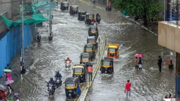 Heavy rains lashed Mumbai and its outskirts.