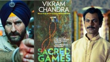 How does Nawazuddin Siddiqui and Saif Ali Khan's  'Sacred Games' differ from Vikram Chandra's novel?
