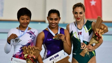 Dipa Karmakar created history by becoming the first Indian gymnast to clinch a gold at a global event.