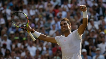 Rafael Nadal beat Juan Martin del Potro  in a five-hour thrilling contest.