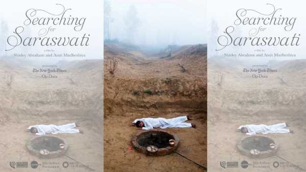 A poster of <i>Searching for Saraswati.</i>