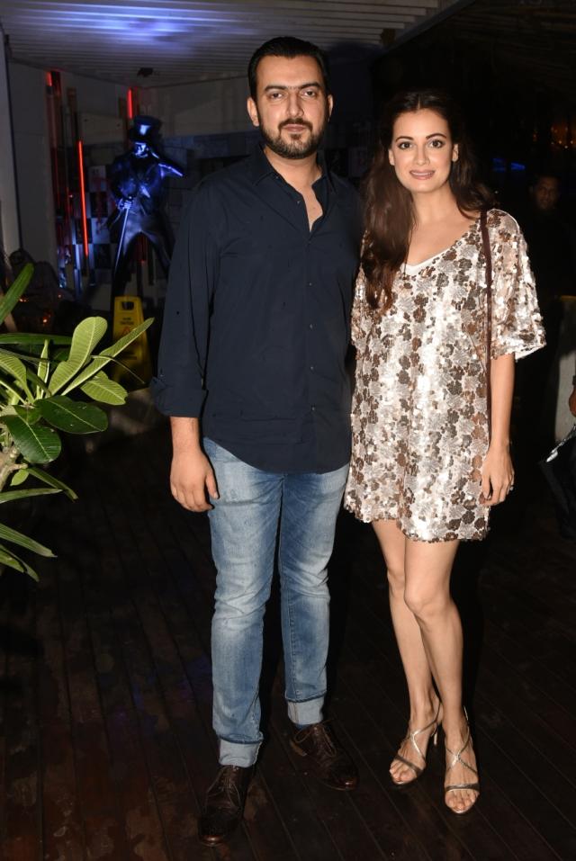 Dia Mirza came with husband Sahil Sangha.