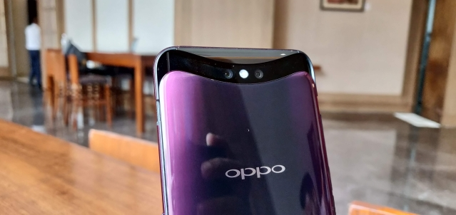 The Oppo Find x sports a dual 16+20-megapixel camera.