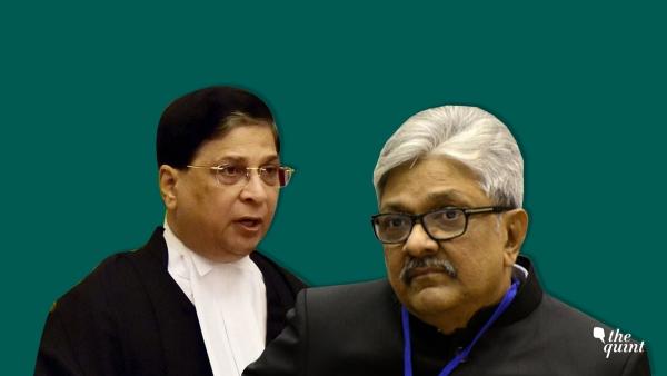 CJI Dipak Misra (L), who heads the Collegium, and Justice KM Joseph