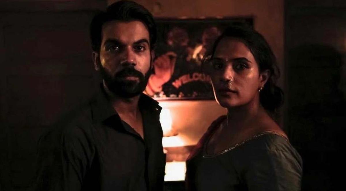 Rajkummar Rao and Richa Chadha in a still from the film.