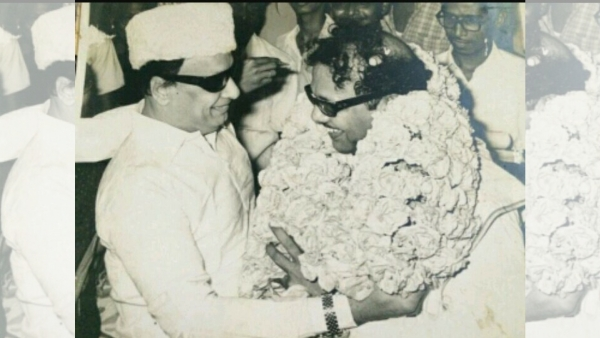 MGR and Karunanidhi, friends in film turned political rivals.