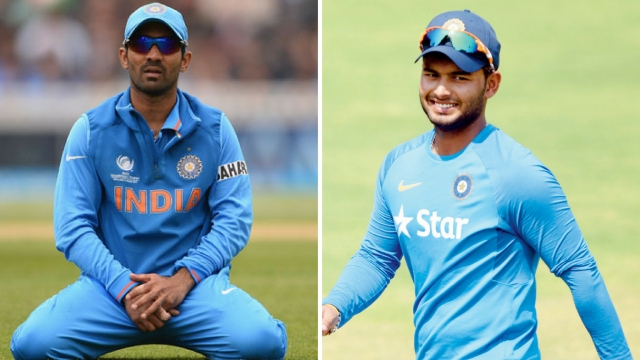 File pictures of Dinesh Karthik (left) and Rishabh Pant.