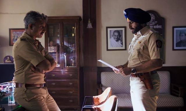 Neeraj Kabi as Parulkar and Saif Ali Khan as Sartaj Singh in <i>Sacred Games.</i>
