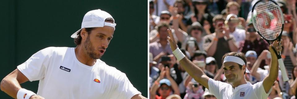 Lopez breaks Federer