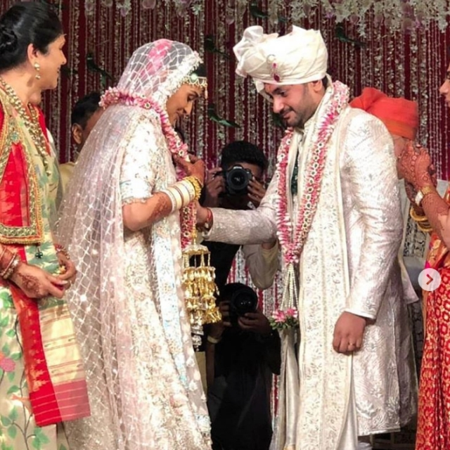 Praful Patel's daughter, Poorna tied the knot with businessman Namit Soni on July 21 in Mumbai.