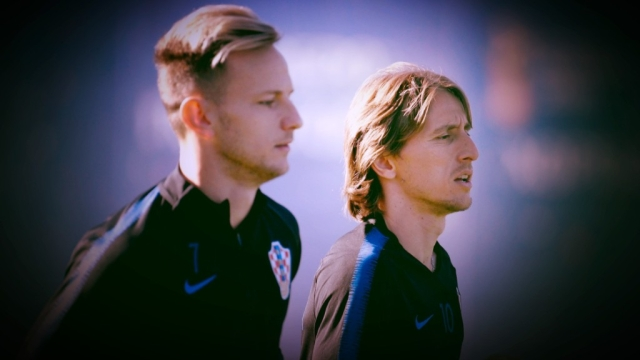 Croatia's Ivan Rakitic (left) and Luka Modric