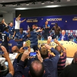 French Players Dance on the Table During Coach's Press Conference