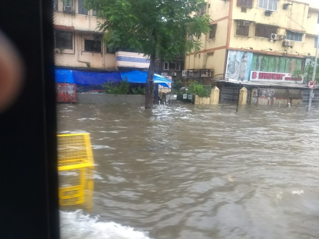 Road near Gandhi Market.