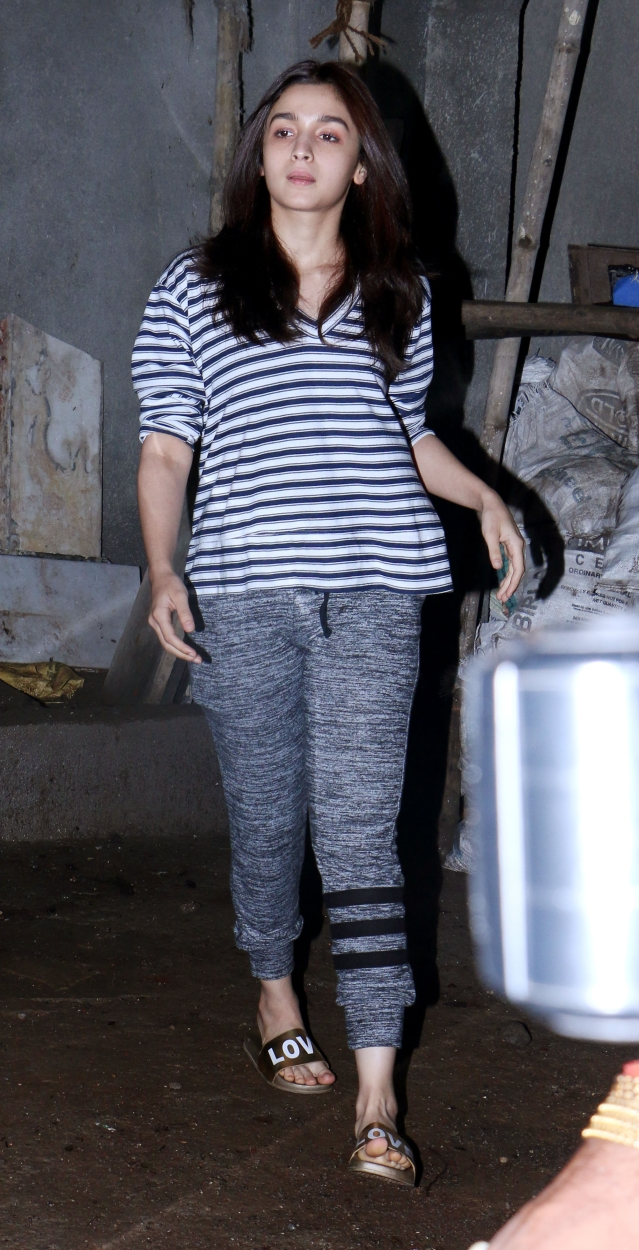 Alia Bhatt looks relaxed.