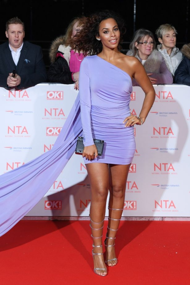 Former Saturdays singer and TV presenter, Rochelle Humes managed to look pretty stunning in lilac at this year's NTAs.