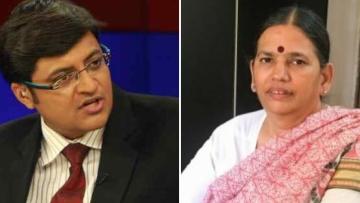 Republic TV anchor Arnab Goswami and Human Rights Lawyer Sudha Bharadwaj.