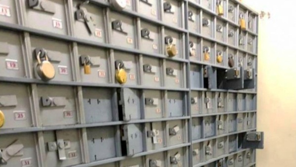 Employees who were cleaning the unused lockers found Rs 550 crore worth cash, gold and property documents on Saturday, resulting in an I-T raid.