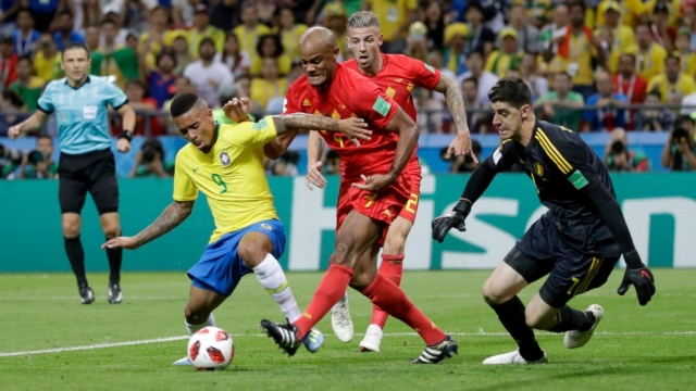 Brazil took 27 shots compared to 9 shots by Belgium during their quarter final match on 6 July.