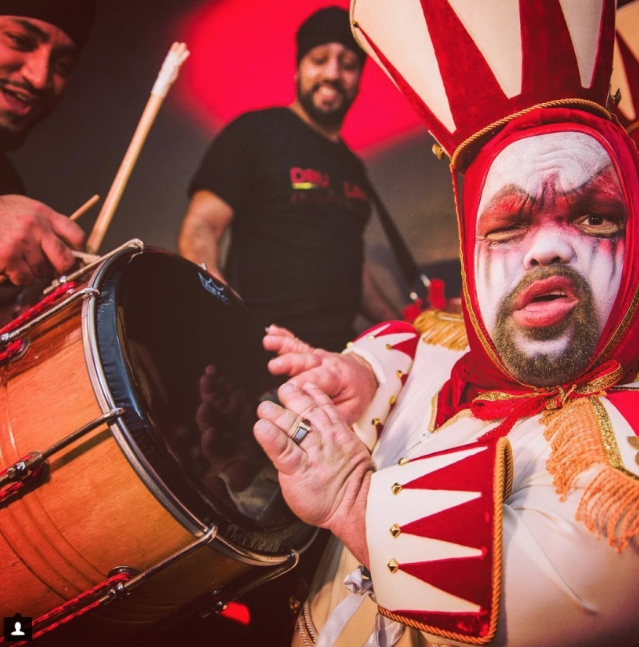 Dhol is a must have in an Indian wedding, be it in Monaco as you can see.