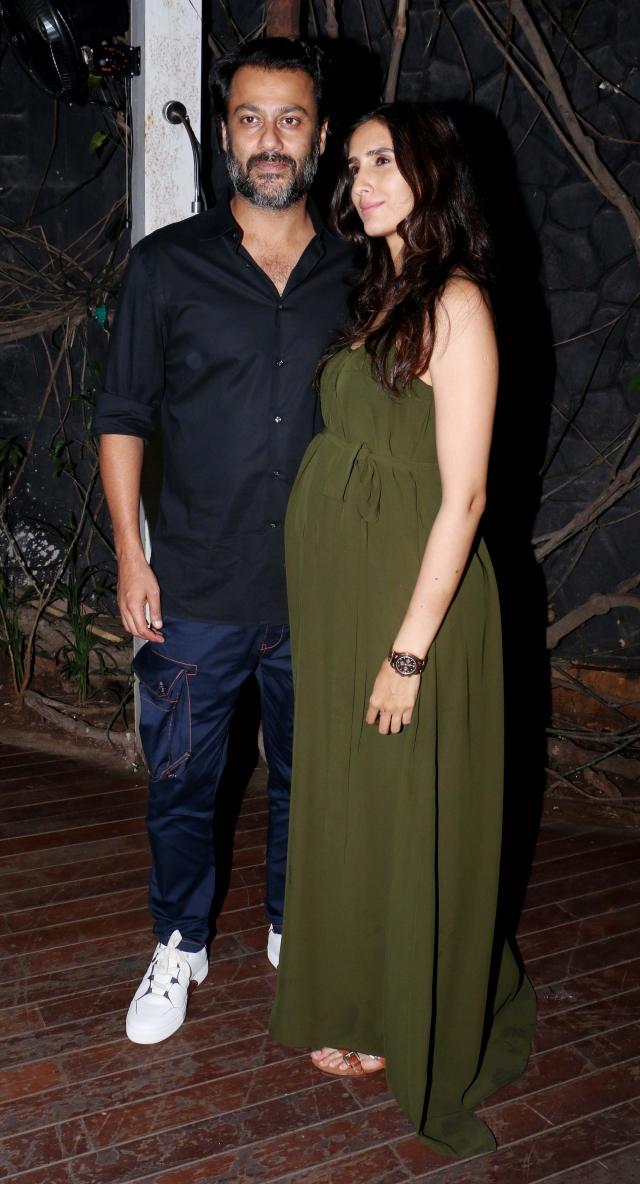 Abhishek Kapoor with wife Pragya Yadav.