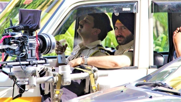 Saif Ali Khan on the sets of <i>Sacred Games.</i>