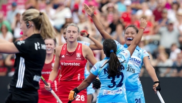 Indian women's hockey team drew 1-1 with England in their opening match of the Women's Hockey World Cup.