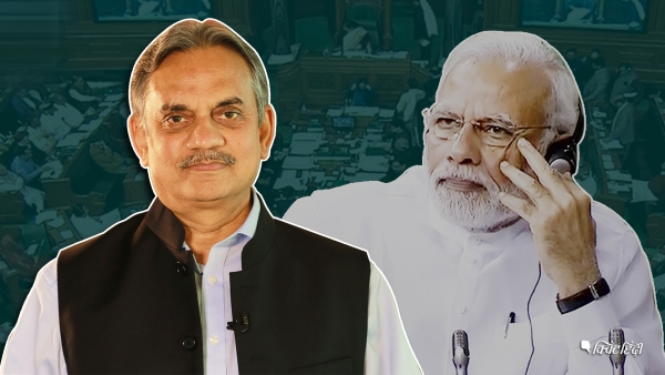 The prime minister's speech indicates that the BJP may fall short of the 272 mark.