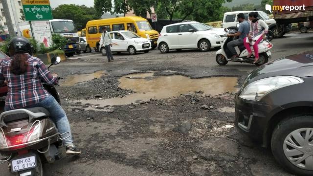 With rains come potholes. Airoli, Navi Mumbai is no different.