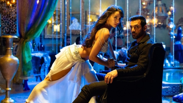 John Abraham and Nora Fatehi from the song 'Dilbar'.